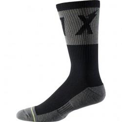 "Calza Fox Racing 8"" Trail Cushion Socks Wurd Black/Grey."